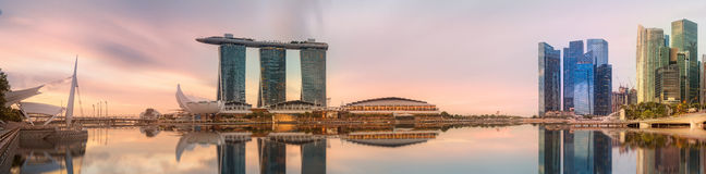 Singapore Skyline and view of Marina Bay Stock Images
