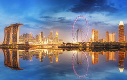 Singapore Skyline and view of Marina Bay Royalty Free Stock Photography