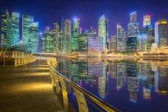 Singapore Skyline and view of Marina Bay. Singapore Skyline and view of skyscrapers on Marina Bay Royalty Free Stock Image