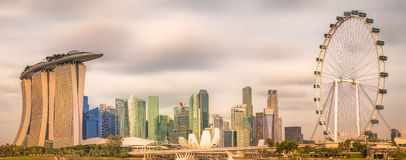 Singapore Skyline and view of Marina Bay Stock Photo