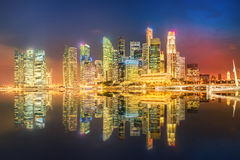 Singapore Skyline and view of Marina Bay Royalty Free Stock Photo