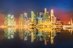 Singapore Skyline and view of Marina Bay. Singapore Skyline and view of skyscrapers on Marina Bay Royalty Free Stock Photo