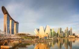 Singapore Skyline and view of Marina Bay Royalty Free Stock Image