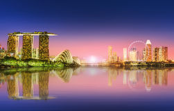 Singapore Skyline and view of Marina Bay. Singapore Skyline and view of skyscrapers on Marina Bay Stock Image