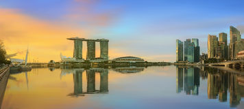 Singapore Skyline and view of Marina Bay. Singapore Skyline and view of skyscrapers on Marina Bay royalty free stock photos