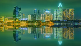 Singapore Skyline and view of Marina Bay Stock Photos