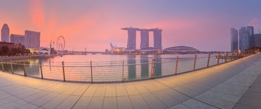 Singapore Skyline and view of Marina Bay Royalty Free Stock Images
