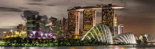 Singapore Skyline and view of Marina Bay Stock Image