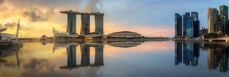 Singapore Skyline and view of Marina Bay Royalty Free Stock Photo
