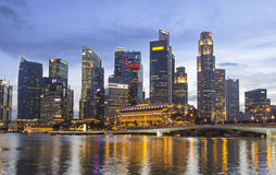 Singapore Skyline 2016 Royalty Free Stock Photos