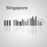 Singapore skyline  for your design Royalty Free Stock Photography