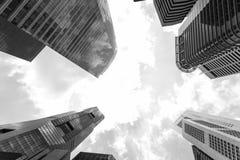 Singapore skyscraper Royalty Free Stock Photos