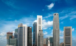 Singapore skyscrapers Stock Image