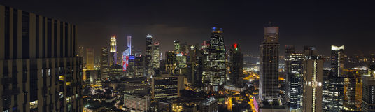 Singapore Skyscrapers in Central Business District Stock Images