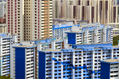 Singapore skyscrapers and flats Stock Image