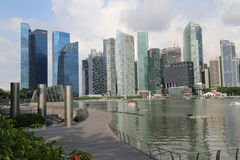 Singapore Skyscrapers Stock Images
