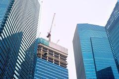Singapore skyskrapakonstruktion Royaltyfri Foto