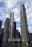 singapore skyskrapor Royaltyfria Bilder