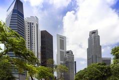 Singapore skyskrapor. Arkivbild