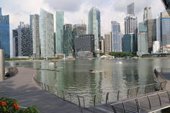 Singapore skyskrapor Arkivbild