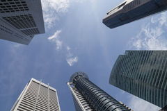 Singapore skyskrapor Arkivfoton