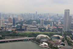 Singapore Skyview in Marina Bay dichtbij de mond van Singapore Royalty-vrije Stock Afbeeldingen