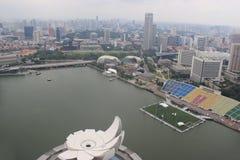 Singapore Skyview in Marina Bay dichtbij de mond van Singapore Royalty-vrije Stock Foto's