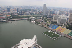 Singapore Skyview at Marina Bay near the mouth of the Singapore. River Royalty Free Stock Photos