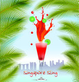 Singapore Sling background Royalty Free Stock Photos