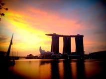 Singapore solnedgång Arkivfoto