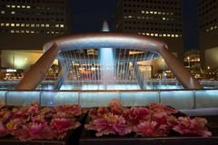 Singapore Springbrunnen av rikedom royaltyfria foton