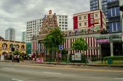 Индусский висок в Сингапуре стоковые фотографии rf
