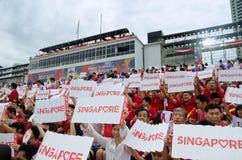 Singapore ståtar den nationella dagen 2013 Arkivfoto
