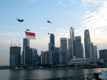 Singapore ståtar den nationella dagen Royaltyfria Foton
