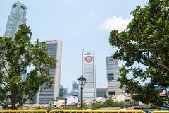 Singapore stad, byggnader Arkivbild