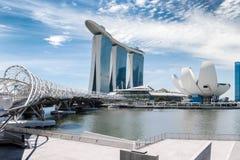 Singapore stad på dagen Fotografering för Bildbyråer