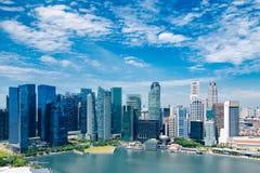 Singapore stad på dagen Arkivbilder