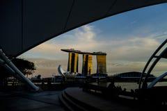 SINGAPORE STAD, SINGAPORE: September 29,2017: Singapore horisont Singa Arkivbild