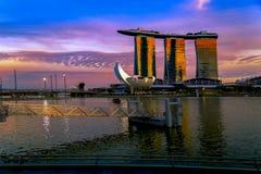 SINGAPORE STAD, SINGAPORE: September 29,2017: Singapore horisont Singa Royaltyfria Bilder