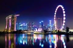 Singapore stadshorisont Fotografering för Bildbyråer