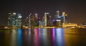 Singapore stadshorisont Royaltyfri Fotografi