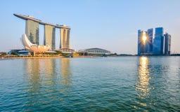 Singapore stadshorisont Arkivbilder