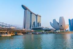 Singapore stadshorisont Arkivfoton