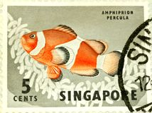 Singapore Stamp Royalty Free Stock Photo
