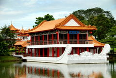 Singapore: Stone Boat at Chinese Garden Stock Photography