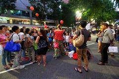 Singapore: Strada del frutteto Immagine Stock Libera da Diritti
