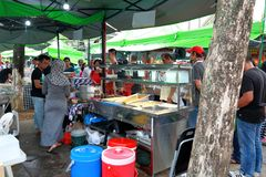 Singapore : Street food Stock Photo