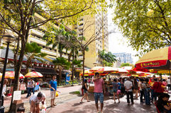 Singapore Street Market Stock Photography