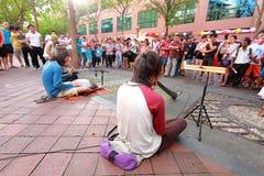 Singapore :Street performer Stock Image
