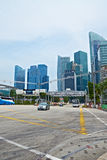Singapore. Street and Skyscrapers Stock Images
